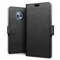 Hoesje Motorola Moto X4 flip wallet zwart