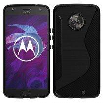 Hoesje Motorola Moto X4 TPU case zwart
