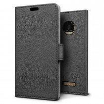 Hoesje Motorola Moto Z flip wallet zwart