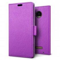 Hoesje Motorola Moto Z Play flip wallet paars