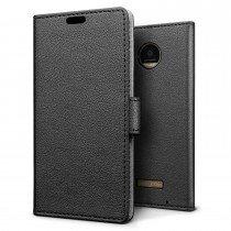 Hoesje Motorola Moto Z Play flip wallet zwart