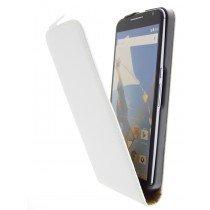 Open - Hoesje Motorola Nexus 6 flip case dual color wit