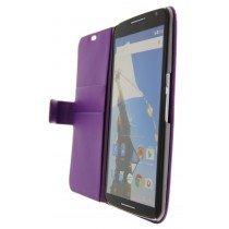 Open - Hoesje Motorola Nexus 6 flip wallet paars