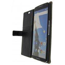 Hoesje Motorola Nexus 6 flip wallet zwart
