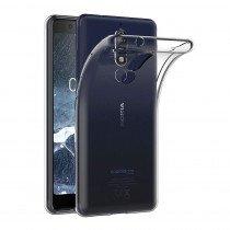 Hoesje Nokia 5.1 Flexi bumper - 0,3mm - doorzichtig