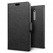 Hoesje Nokia 5 flip wallet zwart
