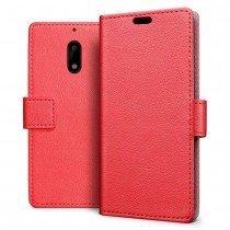 Hoesje Nokia 6 flip wallet rood