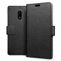 Hoesje Nokia 6 flip wallet zwart