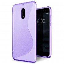 Hoesje Nokia 6 TPU case paars