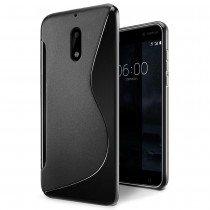Hoesje Nokia 6 TPU case zwart
