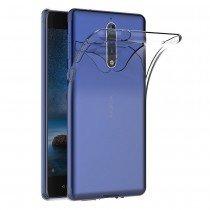 Hoesje Nokia 8 Flexi bumper - 0,3mm - doorzichtig