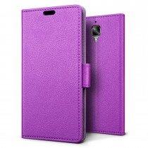 Hoesje OnePlus 3 flip wallet paars