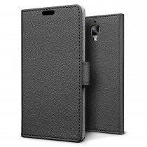 Hoesje OnePlus 3 flip wallet zwart