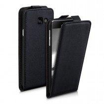 Hoesje Samsung Galaxy A3 2016 flip case dual color zwart