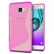 Hoesje Samsung Galaxy A3 2016 TPU case roze