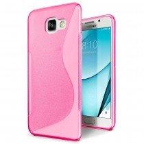 Hoesje Samsung Galaxy A3 2017 TPU case roze