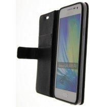 Hoesje Samsung Galaxy A3 flip wallet zwart