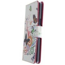 Hoesje Samsung Galaxy A5 flip wallet butterfly colors