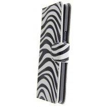 Hoesje Samsung Galaxy A5 flip wallet zebra