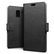 Hoesje Samsung Galaxy A8 2018 flip wallet zwart