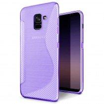 Hoesje Samsung Galaxy A8 2018 TPU case paars
