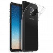 Hoesje Samsung Galaxy A8+ 2018 Flexi bumper - 0,3mm - doorzichtig