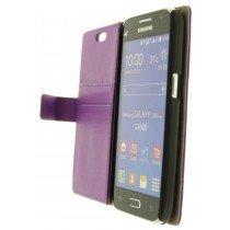 Hoesje Samsung Galaxy Core Prime flip wallet paars