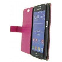 Hoesje Samsung Galaxy Core Prime flip wallet roze