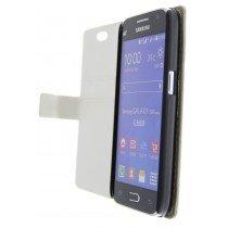 Hoesje Samsung Galaxy Core Prime flip wallet wit