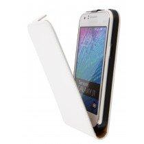 Hoesje Samsung Galaxy J1 flip case dual color wit - Open