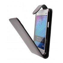 Hoesje Samsung Galaxy J1 flip case zwart - Open