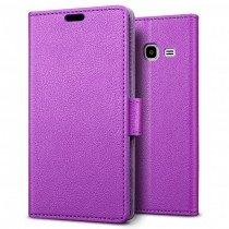 Hoesje Samsung Galaxy J1 Mini flip wallet paars