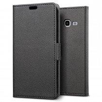 Hoesje Samsung Galaxy J1 Mini flip wallet zwart