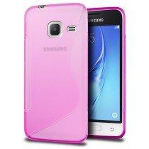 Hoesje Samsung Galaxy J1 Mini TPU case roze