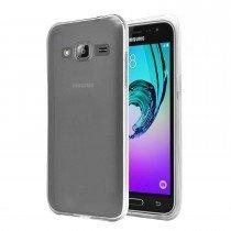 Hoesje Samsung Galaxy J3 2016 Flexi bumper - 0,3mm - doorzichtig