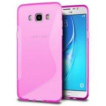 Hoesje Samsung Galaxy J5 2016 TPU case roze