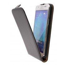 Hoesje Samsung Galaxy J5 flip case dual color zwart - Open