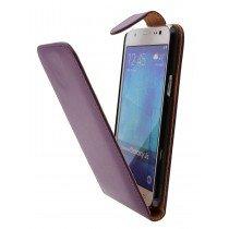 Hoesje Samsung Galaxy J5 flip case paars