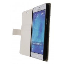 Hoesje Samsung Galaxy J5 flip wallet wit - Open