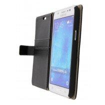 Hoesje Samsung Galaxy J5 flip wallet zwart - Open
