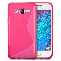 Hoesje Samsung Galaxy J5 TPU case roze