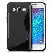Hoesje Samsung Galaxy J5 TPU case zwart