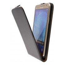 Hoesje Samsung Galaxy J7 flip case dual color zwart - Open