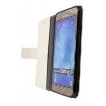 Hoesje Samsung Galaxy J7 flip wallet wit - Open