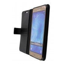 Hoesje Samsung Galaxy J7 flip wallet zwart - Open