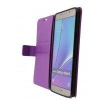 Hoesje Samsung Galaxy Note 5 flip wallet paars - Open