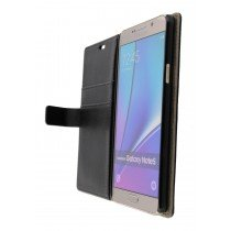 Hoesje Samsung Galaxy Note 5 flip wallet zwart - Open