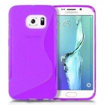 Hoesje Samsung Galaxy S6 Edge TPU case paars