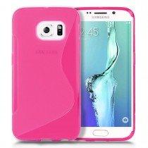 Hoesje Samsung Galaxy S6 Edge TPU case roze