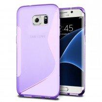 Hoesje Samsung Galaxy S7 Edge TPU case paars